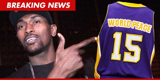 Ron Artest -- Name Change Official ... Say Hello to World Peace | TMZ.com