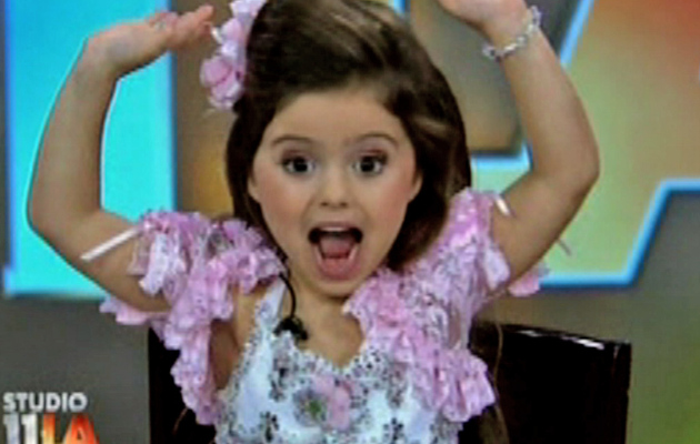 """Toddlers & Tiaras"" Star Goes Wild on Live TV"