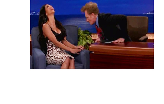 Scherzinger Calls Out Conan for Staring At Her Chest!