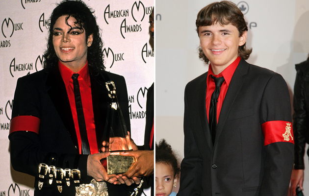 Prince Michael Jackson Pays Tribute to Dad in Germany