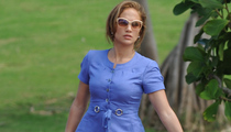 Jennifer Lopez Gets Animated on Set
