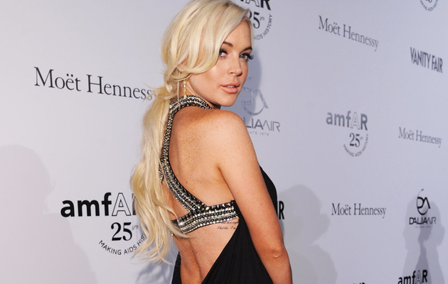 Lindsay Lohan Cleans Up on Milan Red Carpet