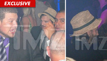 Ashton Kutcher -- Partying SOLO on Anniversary
