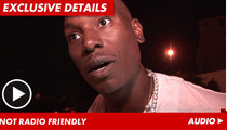 Tyrese -- BOOTED from Radio Station for Talking About Liquor Stores