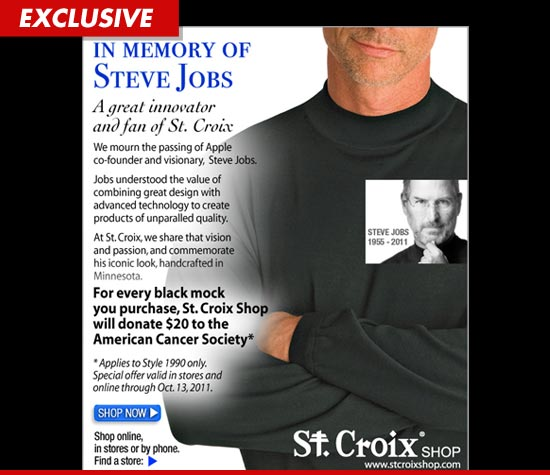 Steve Jobs and  St. Croix Turtlenecks