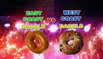 The Great Bagel War -- East Coast vs. West Coast