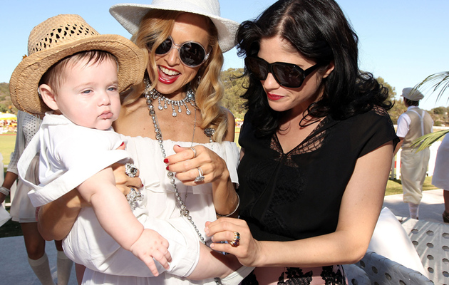 Rachel Zoe, Selma Blair Bring Babies to Polo Match