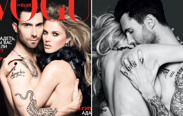 Adam Levine Gets Naked with Girlfriend Anne V.