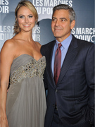 George Clooney&#039;s Girlfriend Stacy Keibler Suffers Wardrobe Malfunction