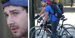 Shia LaBeouf -- Post Beatdown Bike Ride