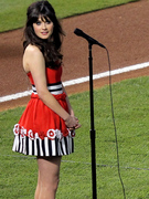 Video: Zooey Deschanel Sings the National Anthem