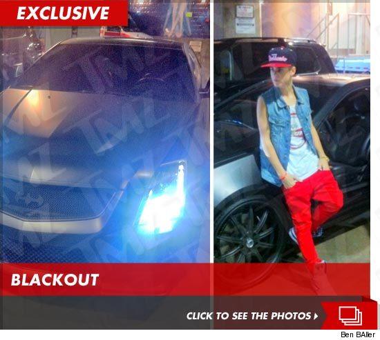 Justin Bieber Batman Cadillac