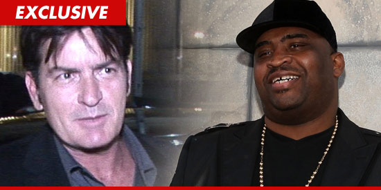 Charlie Sheen and Patrice O'Neal,