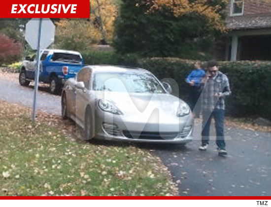 Bam Margera wrecked car