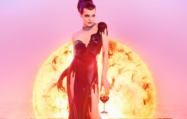 Milla Jovovich Stuns in Apocalypse Calendar Shoot