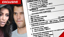 Kim Kardashian Divorce -- Kim Files for Divorce from Kris Humphries