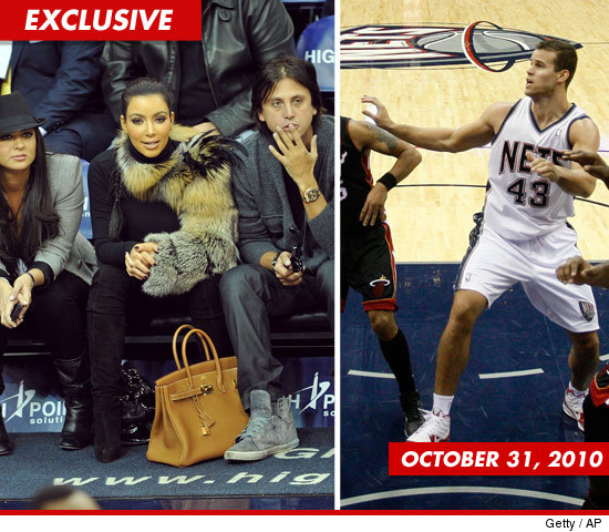 kim kardashian courtside