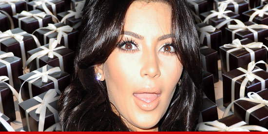 butting heads on what Kim Kardashian should do with her wedding gifts