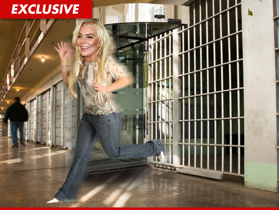 Lindsay Lohan out of jail