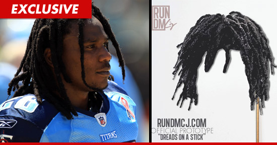 Chris Johnson Dreads on a Stick