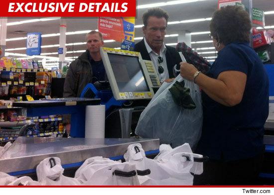 Arnold Schwarzenegger at Walmart