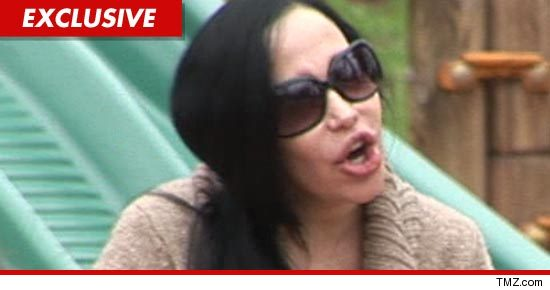 Nadya Suleman wearing sun glasses