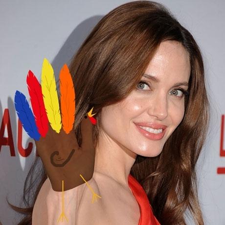 Turkey Hands Kids create thanksgiving turkeys for celebrities waving