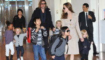 Brad & Angelina Bring Entire Family to Japan!
