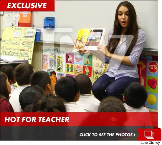 Sasha Grey reading to children