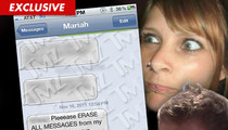 Justin Bieber's Alleged Baby Mama -- BUSTED by Text Messages