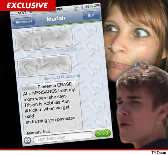 Mariah Yeater text messages about Justin Biebers baby