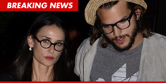 Demi Moore divorces Ashton Kutcher