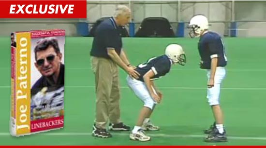 Jerry Sandusky interacting with young boys
