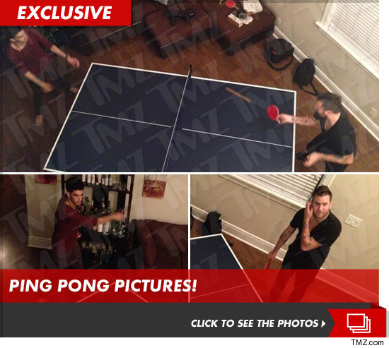 Daniel Shemtob and Jason Quinn playing Ping Pong
