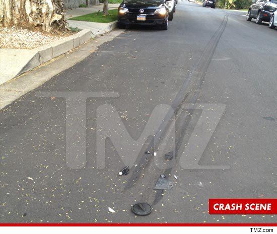 Conrad Hilton accident scene