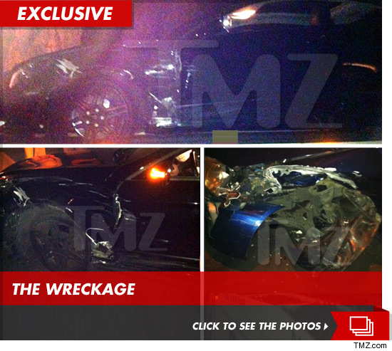Conrad Hilton Car Crash photos
