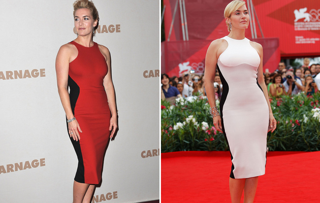 Kate Winslet Looks Red-Hot in a Familiar Stella Dress