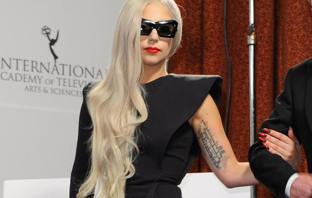 Whoa! Lady Gaga Nearly Flashes All In Daring Dress!