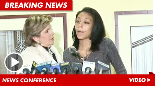 Gloria Allred and her client Christina Fierro, the alleged prostitute accusing Lawrence Taylor