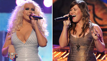 Xtina vs. Kelly Clarkson -- The Bandage Dress Battle