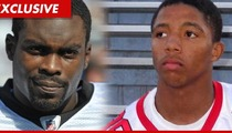 Michael Vick -- Pumps Up Nate Dogg's Son
