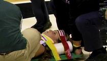 Michigan State Basketball -- Cheerleader Suffers Frightening Neck Injury