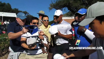Tiger Woods -- Hounded by Fans ...Still
