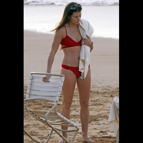 Danica Patrick wearing a bikini swimsuit in hawaii.