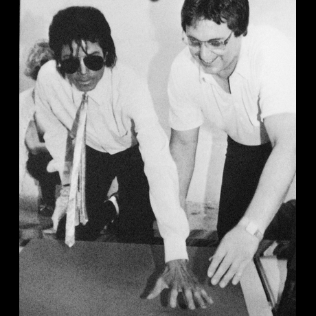Michael Jackson Hand Prints Photo Gallery