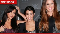 Kardashians Declare War -- You Can't Sell Our Eyelashes!!
