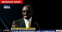 Herman Cain: 'I Am Suspending My Presidential Campaign'