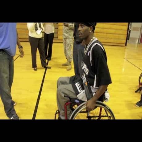 DMX Plays Wheelchair Basketball