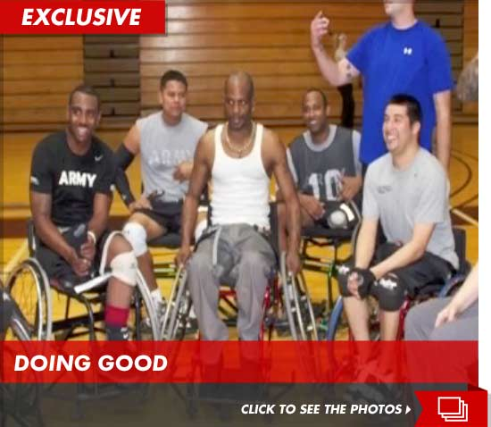 DMX playing wheelchair basketball