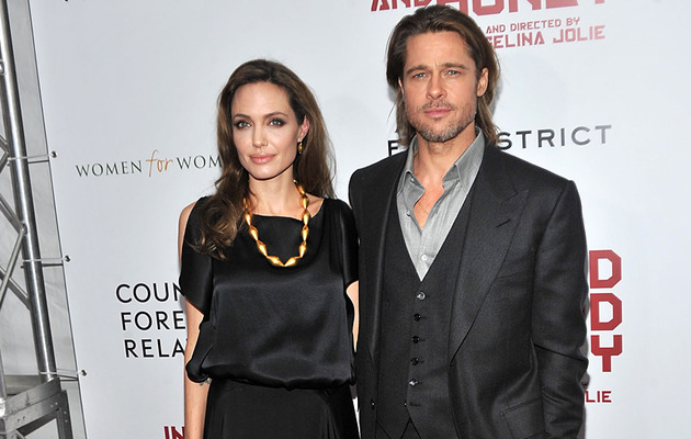 Angelina Steps Out With Brad and His Parents